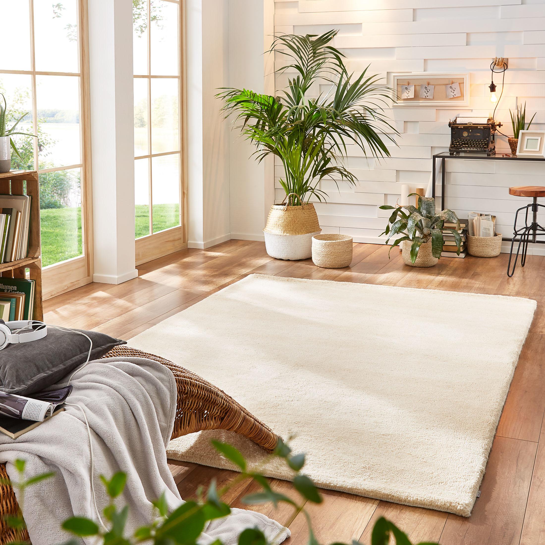 woll teppich von kibek tanger in creme 60 x 90 cm. Black Bedroom Furniture Sets. Home Design Ideas